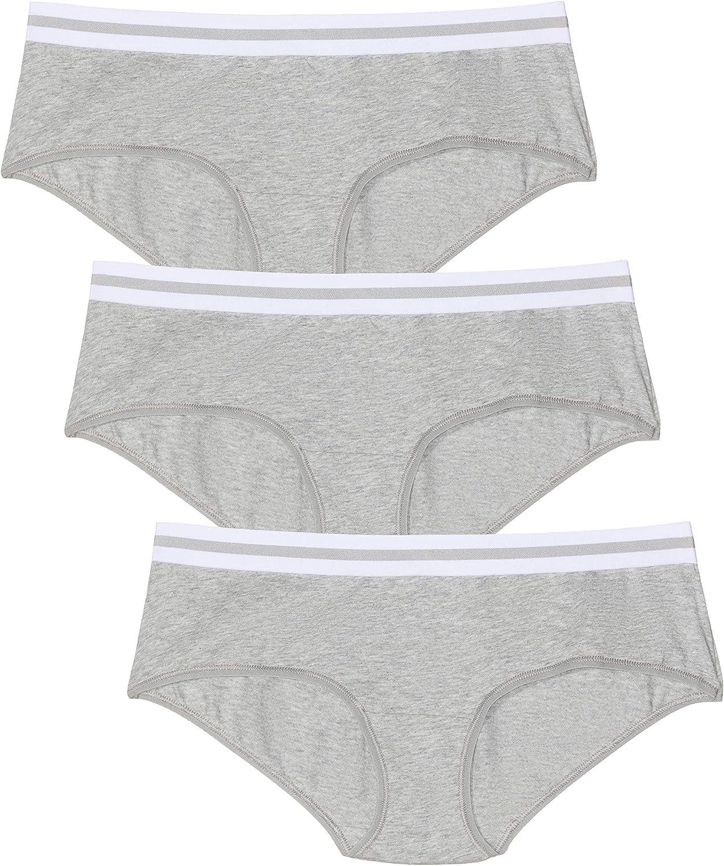 Marca Amazon - Iris & Lilly Braga Boy Short de Algodón Mujer, Pack ...