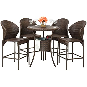 Amazon.com : Best Choice Products Outdoor Patio Furniture 5-Piece ...