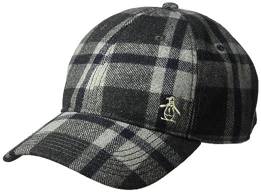 Amazon.com  Original Penguin Men s Wooly Check Baseball Cap ... 022f03b4a444