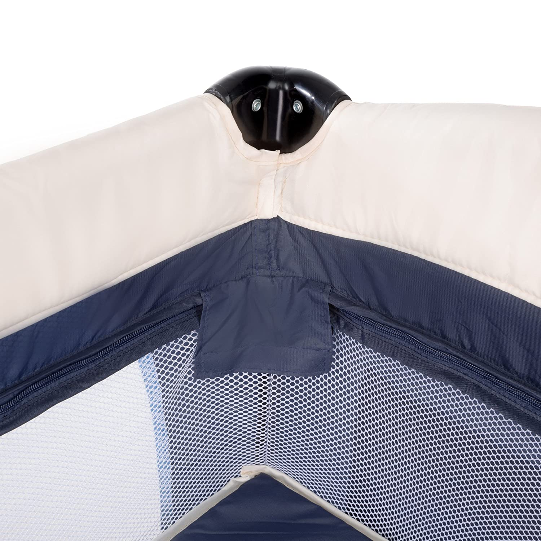 Azul | No. 402201 TecTake Cuna infantil de viaje port/átil altura ajustable con acolchado para beb/é disponible en diferentes colores