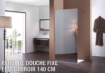Paroi De Douche Fixe Miroir 140 Cm Amazon Fr Cuisine Maison