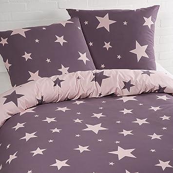 Aminata Bettwäsche Sterne 135x200 Cm Baumwolle Reißverschluss