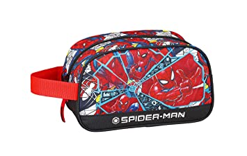 "Spiderman ""Super Hero"" Oficial Mochila Escolar Infantil Mediano con Asa 260x120x150mm"