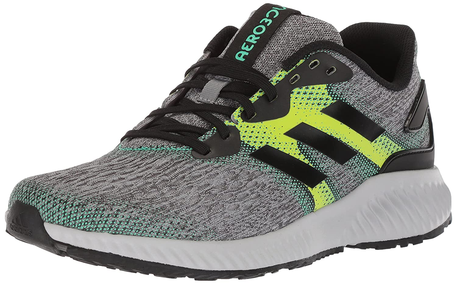 adidas Men's Aerobounce m Running Shoe B071HVRTKG 11.5 D(M) US|Core Black/Slime/Hi-res Green