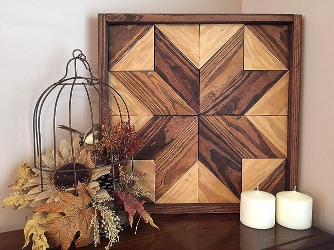 Amazon Com Star Quilt Square Pallet Wood Wall Art Plaque Handmade