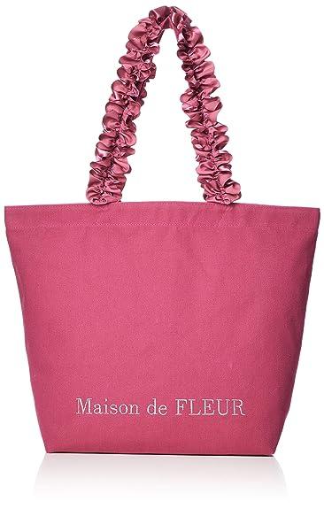 fd7794b7a237 Amazon | [メゾン ド フルール] ピンクマニアフリルハンドルトートMバッグ 8A91F0J3000 Shocking Pink | Maison  de FLEUR(メゾンドフルール) | トートバッグ