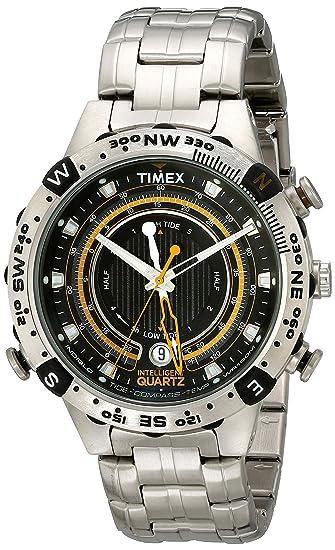d8f0ae566055 Timex Men s T2N738 Intelligent Quartz Adventure Series Tide Temp Compass  Bracelet Watch