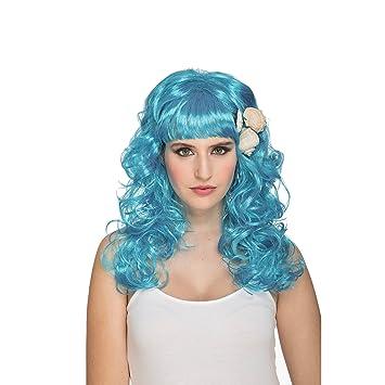 My Other Me Me-204631 Peluca de Sirenita, Color Azul, Talla única (