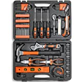 VonHaus 100 Piece Tool Set - Household Tool Kit with Ratchet Wrench, Screwdriver Set, Socket Kit, Pliers and Most Reached for Hand Tools in a Molded Storage Case - Ideal for DIY Home Repair