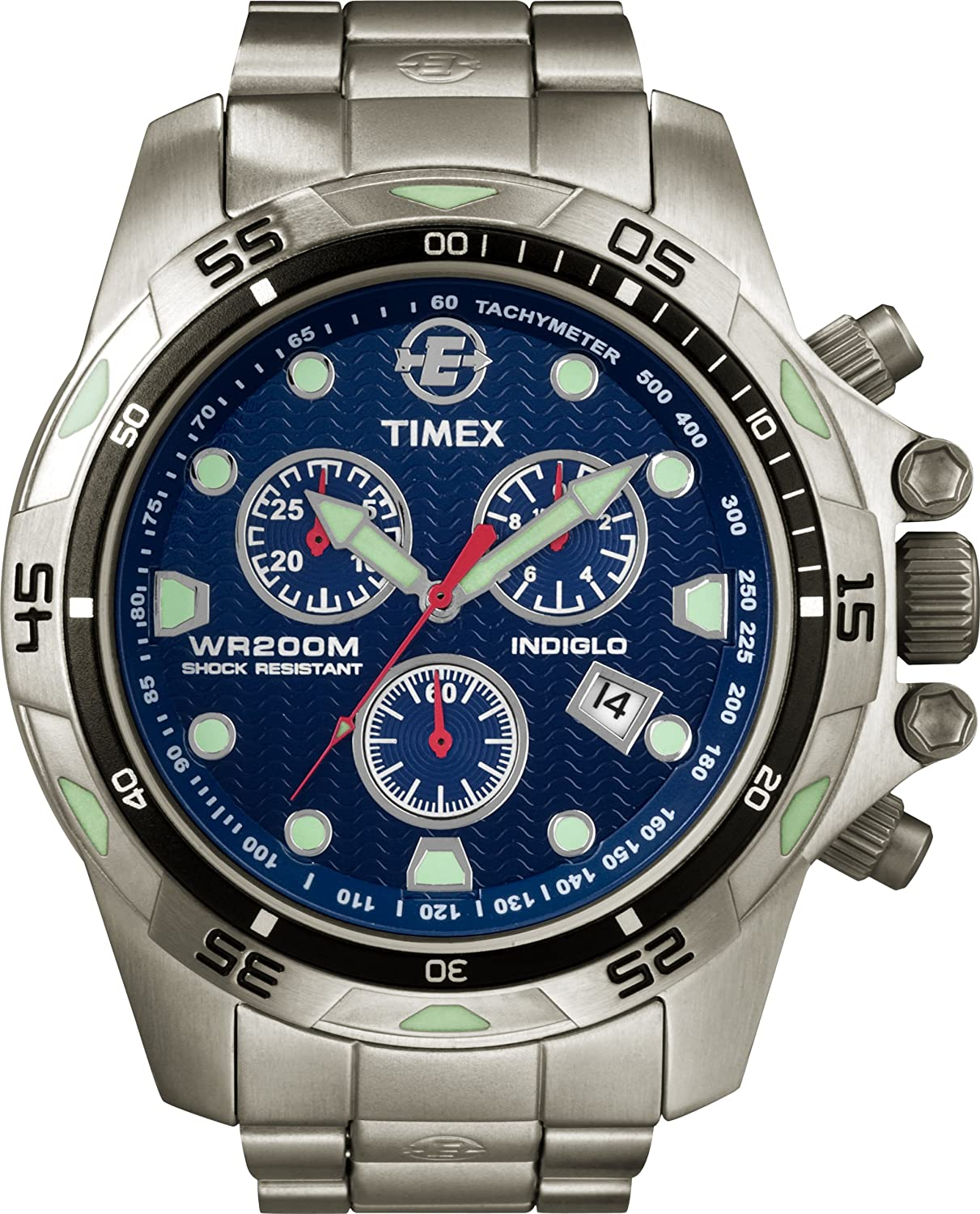 amazon com timex men s t49799 expedition dive style stainless amazon com timex men s t49799 expedition dive style stainless steel blue dial watch timex watches