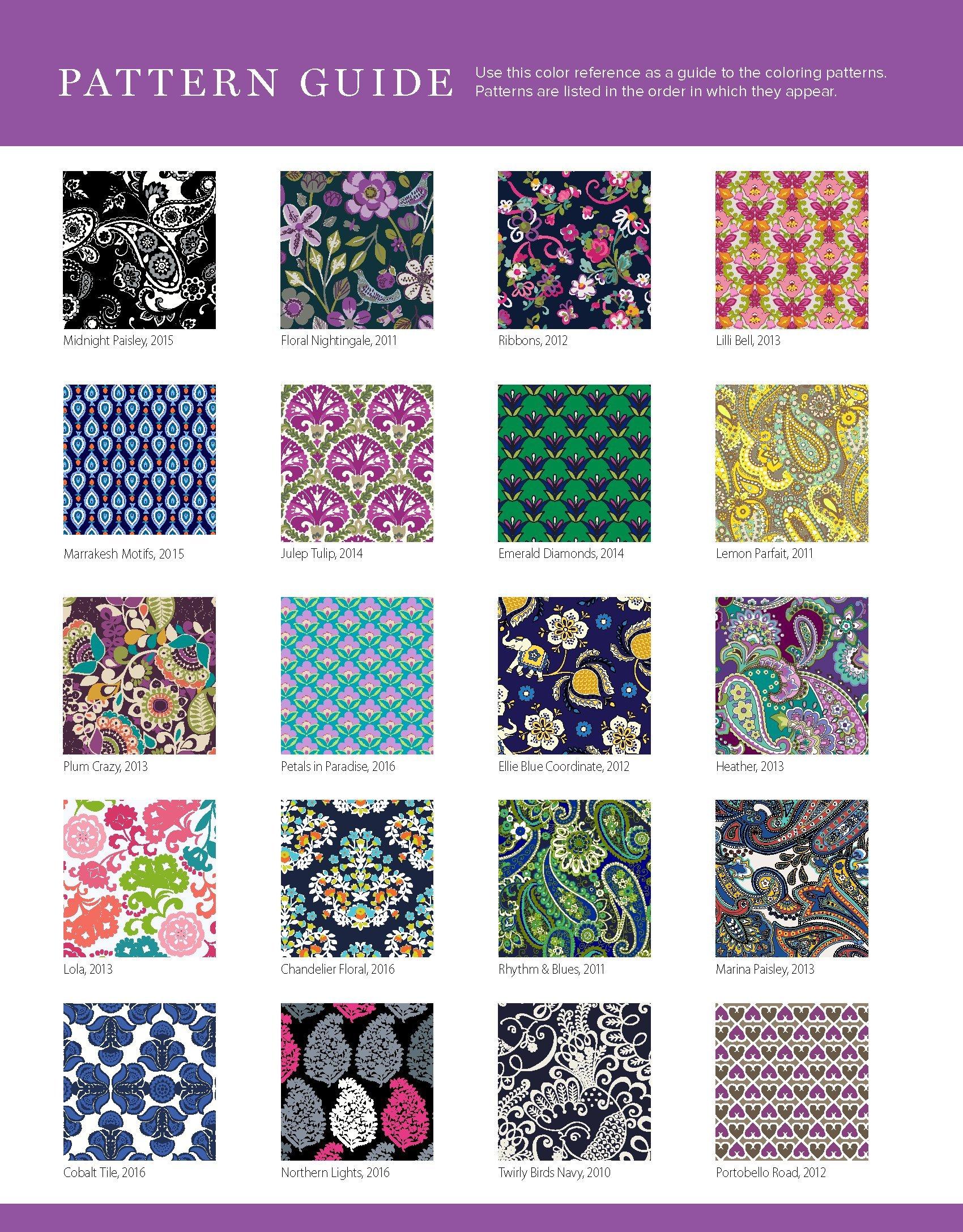 7716f7be1f11 Amazon.com  Vera Bradley Paisley Patterns Coloring Book (Design Originals)  40 Authentic Designs