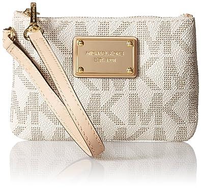40b4c37cbb40 Michael Kors Handbag Jet Set Small Signature Wristlet Vanilla [Apparel]:  Amazon.co.uk: Shoes & Bags
