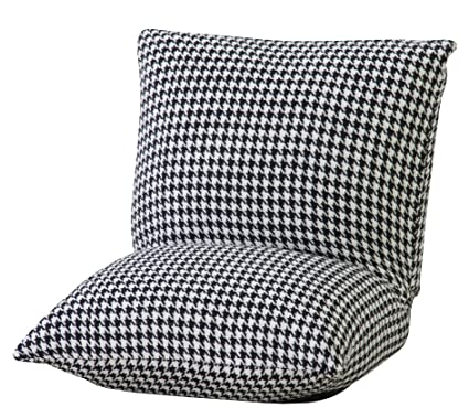 Azumaya RKC-927 Compact Floor Cushion Chairs (Houndstooth)