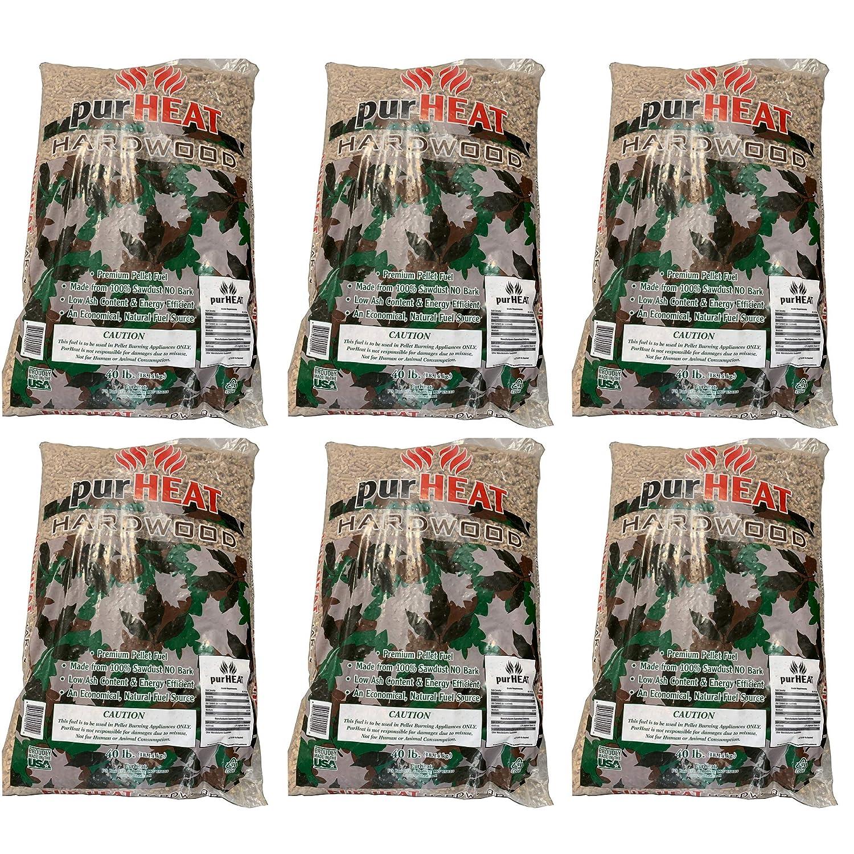 US Stove HCHP40 40 Pound Bag Natural Wood Home Heating Pellets for Pellet Stove (6 Pack)