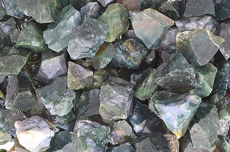 1//2 lb MOSS AGATE  Bulk Tumbling Rough Rock Stones Healing Crystals