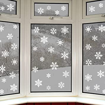 Amazoncom Original Snowflake Window Clings Quick And Simple - Snowflake window stickers amazon