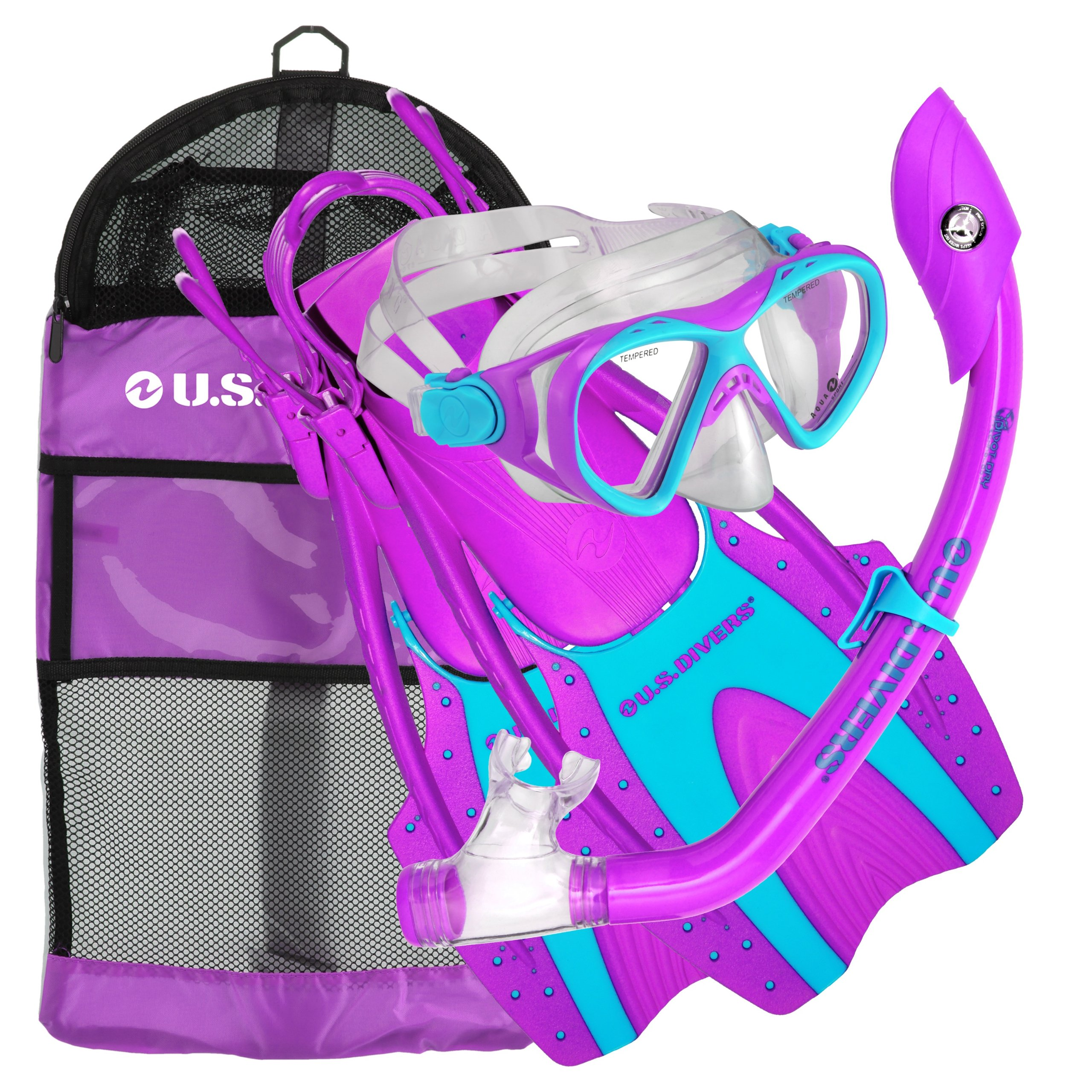 U.S. Divers Youth Buzz Jr. Snorkeling Set Purple Small/Medium by U.S. Divers