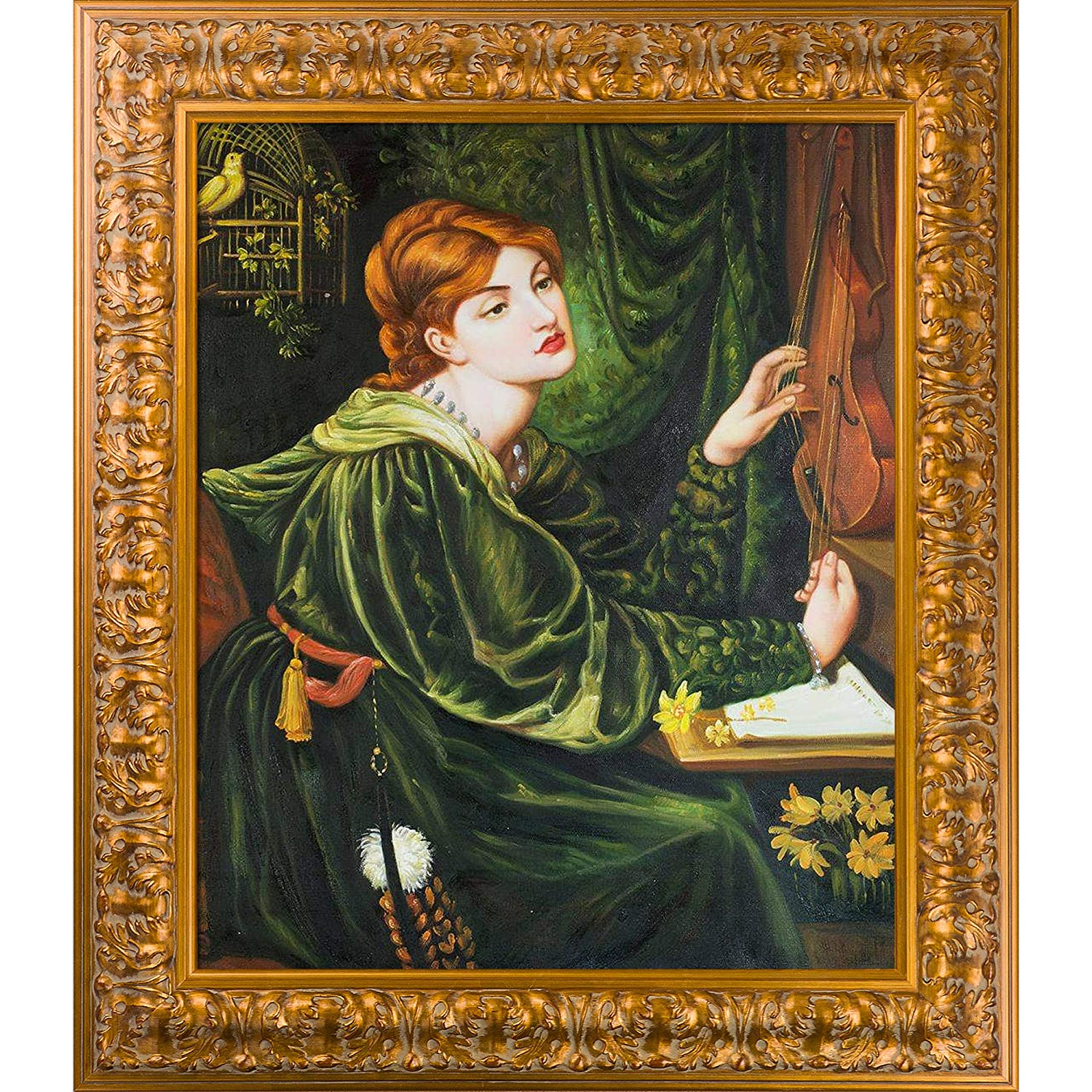 20X24 Multi overstockArt DGR7229-FR-7881620X24 Veronica Veronese with Sicilian Gold Framed Hand Painted Oil Reproduction
