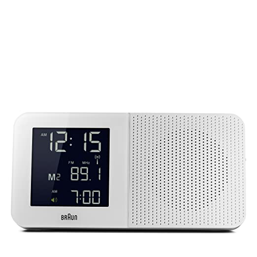 Braun BNC010WH-RC - Reloj despertador digital con control por radio global, color blanco: Amazon.es: Relojes