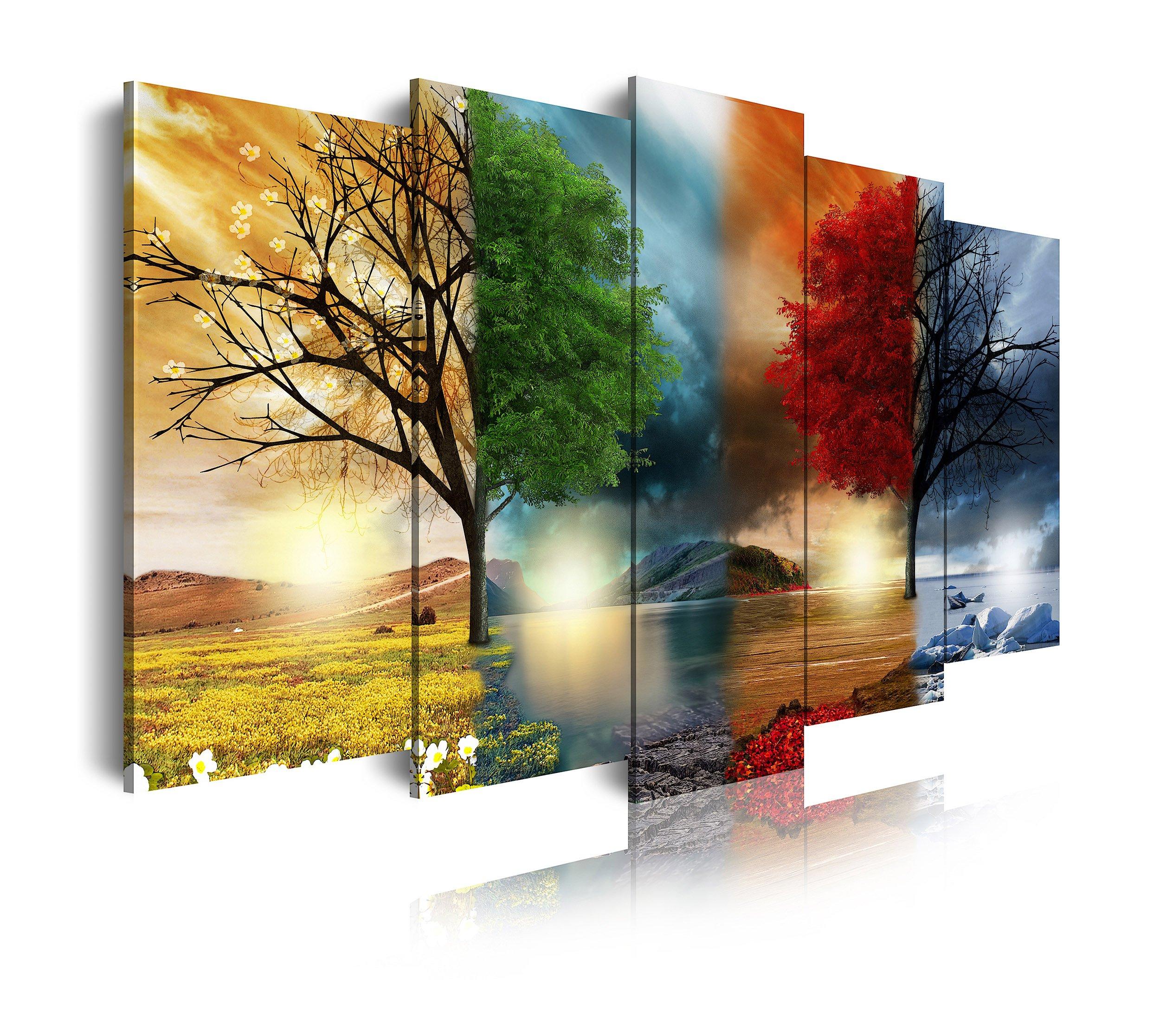 Quadri moderni astratti 180 x 70 stampe su tela canvas con telaio MIX-S/_128