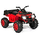 Best Choice Products 12V Powered Extra-Large Kids ATV Quad 4 Wheeler Ride On Spring Suspension MP3 Lights Storage Bin
