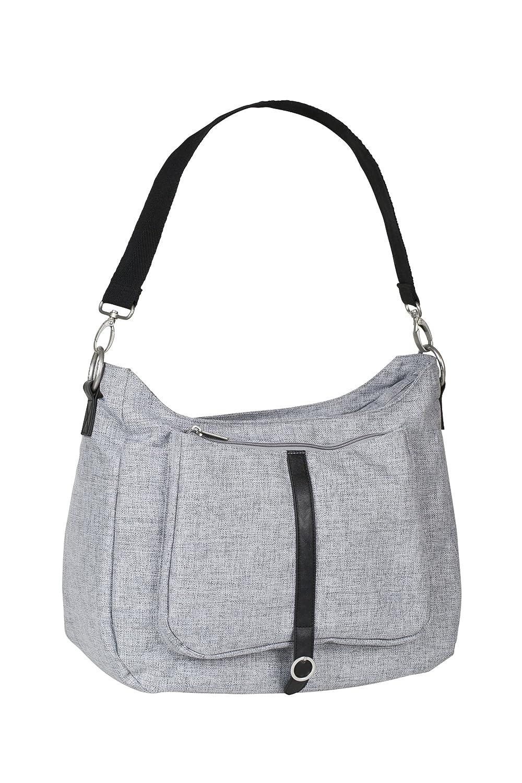 Wickelzubeh/ör black melange L/ässig Green Label Shoulder Bag Wickeltasche mit verstellbarem Schultergurt inkl