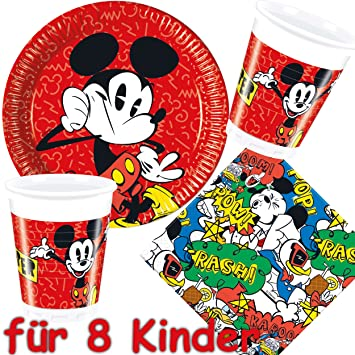 37 piezas Party * Mickey Mouse - Super Cool * con plato + ...