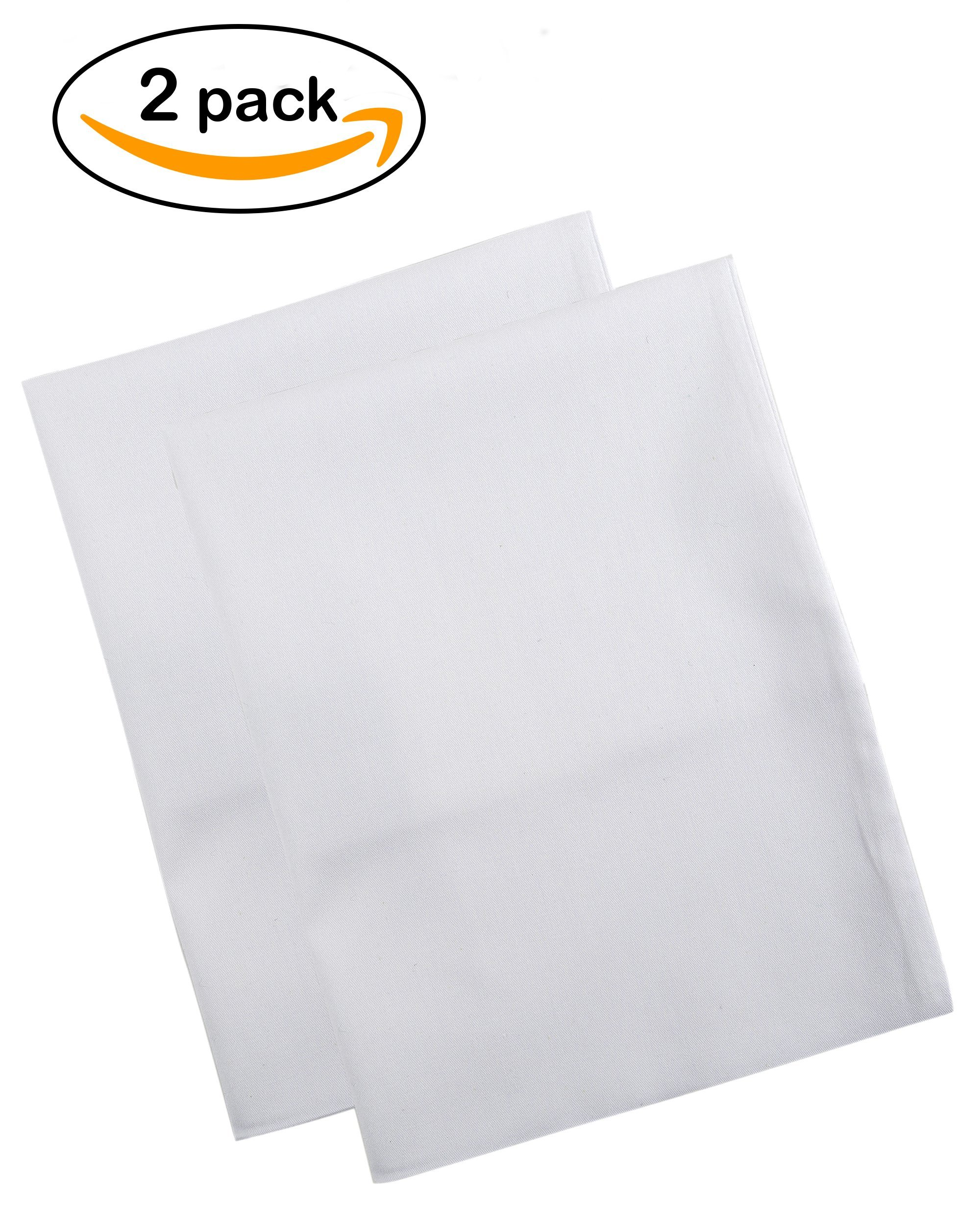 BB MY BEST BUDDY Toddler Pillowcase - White - Two pack - 100% twill cotton - 13x18 Shrinks to fit - Envelope Style Closure