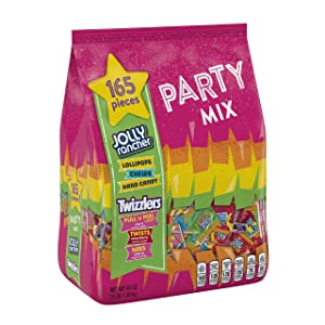 Jolly Rancher & Twizzlers Candy Variety Pack, Fun Size, 165 Pieces, 48 Oz