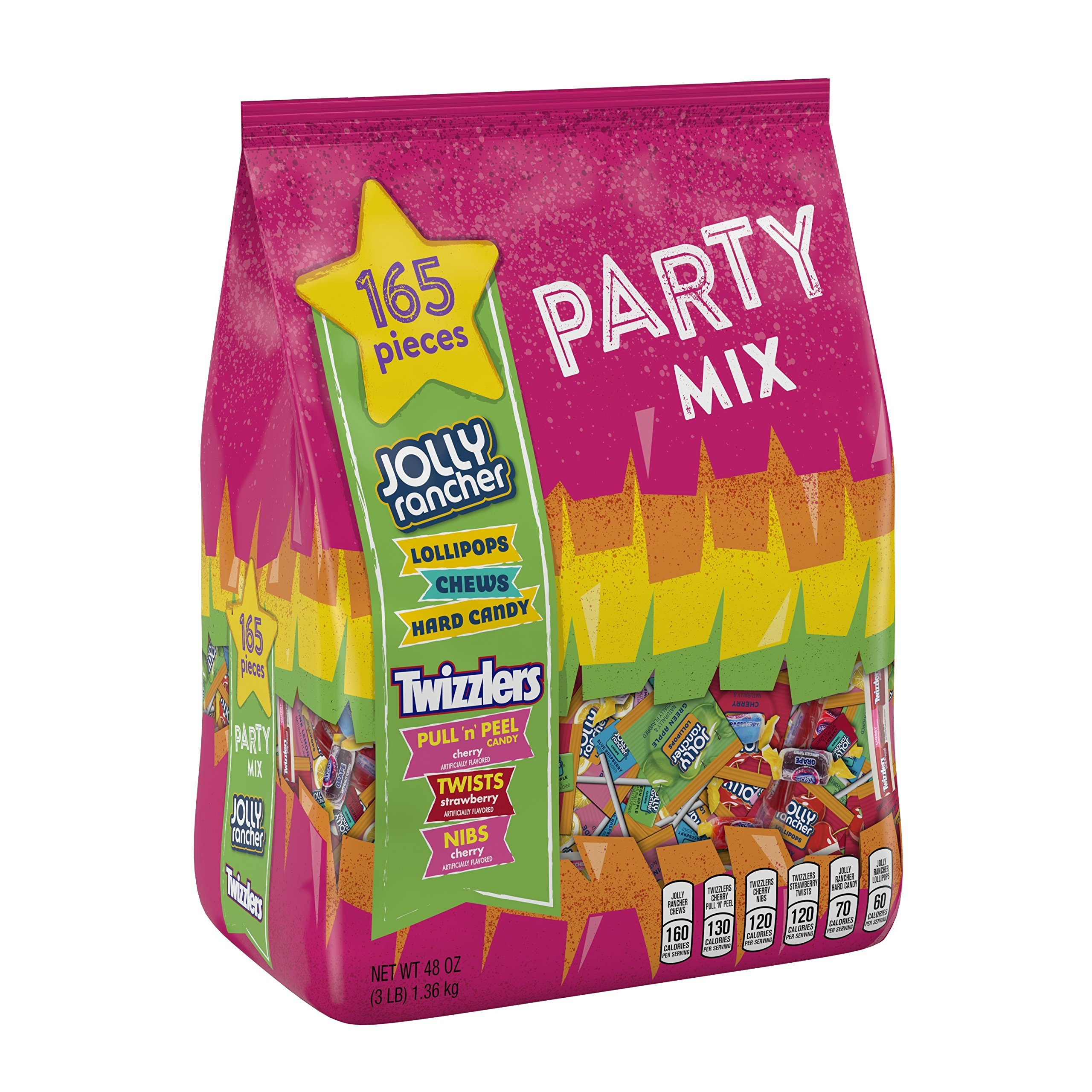HERSHEY'S Jolly Rancher Twizzlers Candy Variety Pack Fun Size 165 Pieces 48 Oz, Cherry, 1 Count