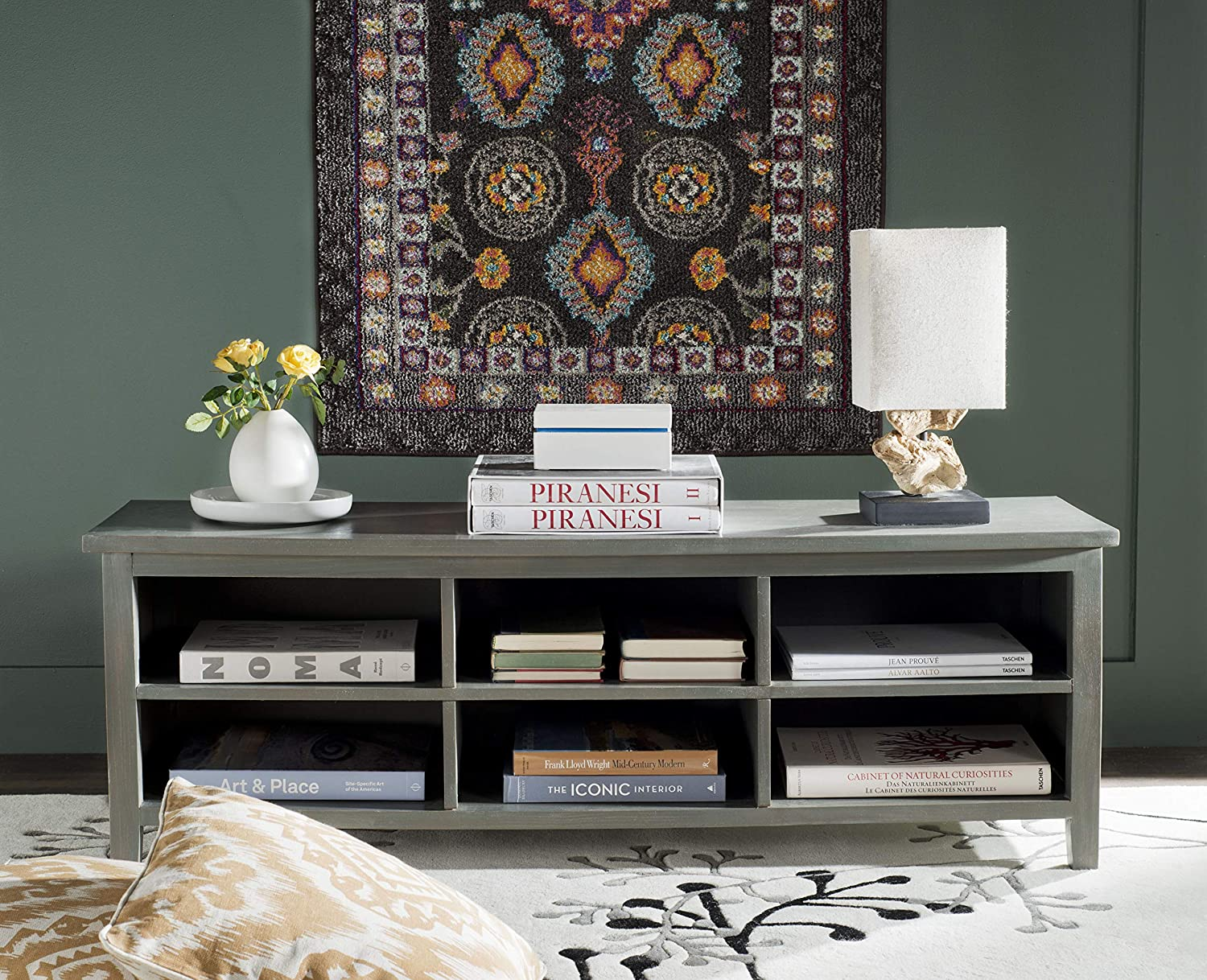 Safavieh American Homes Collection Sadie Low Bookshelf, French Grey