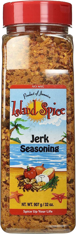 Island Spice Jerk Seasoning Product of Jamaica, Restaurant Size, 32 oz