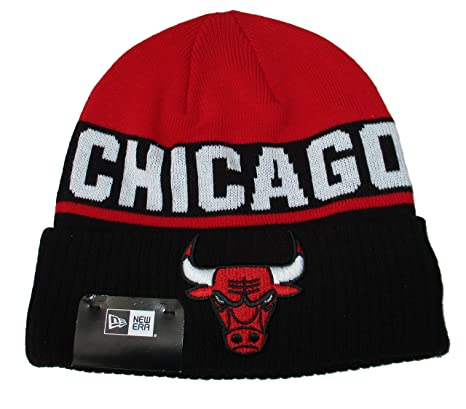 3171ac24179 Image Unavailable. Image not available for. Color  Chicago Bulls New Era  Adult Cuff Knit Beanie One Size Hat ...