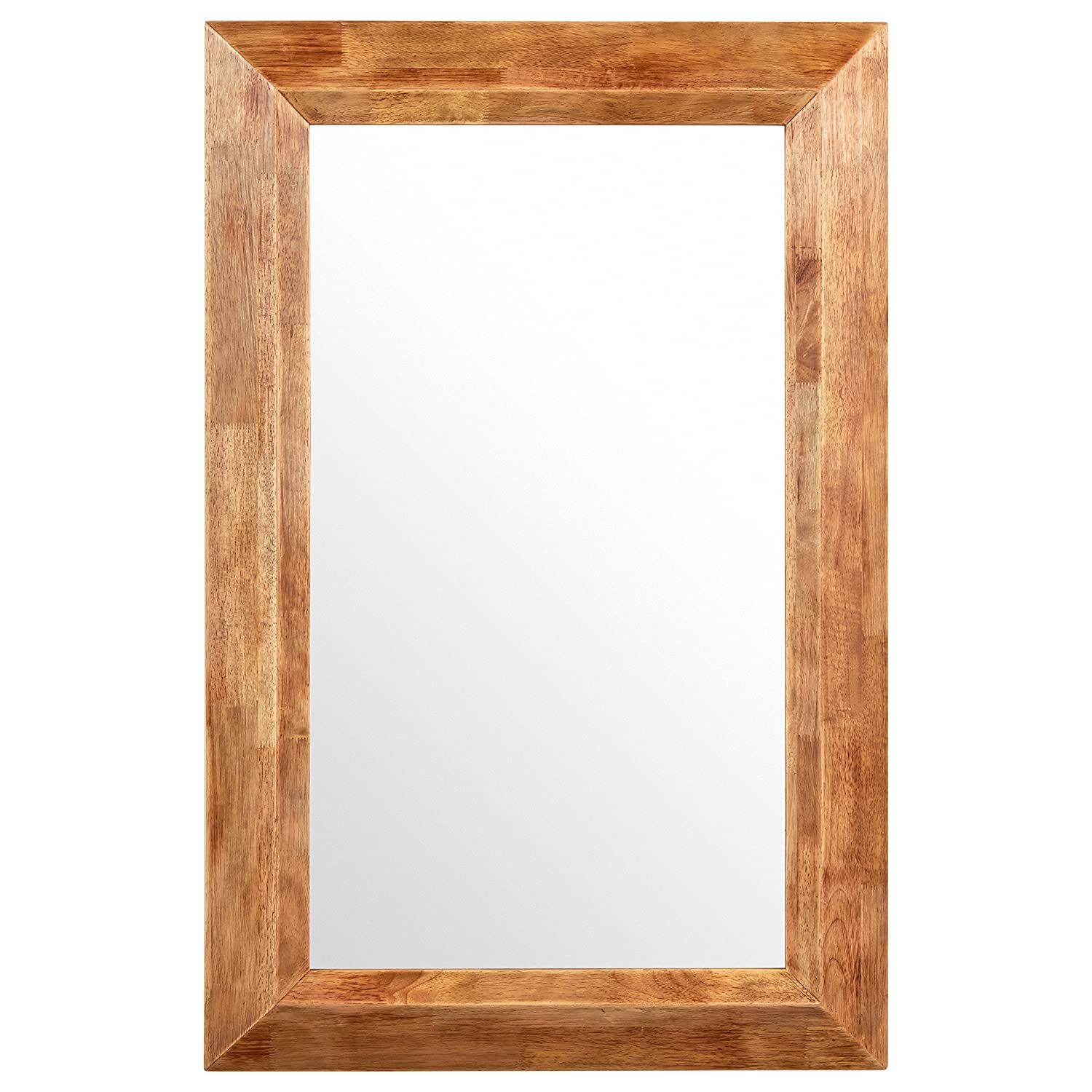 Stone & Beam Square Rustic Wood Frame Mirror, 25.75