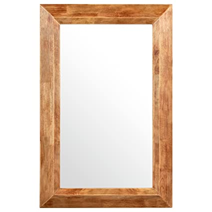 rustic wood picture frames Amazon.com: Stone & Beam Rustic Wood Frame Mirror, 39.75