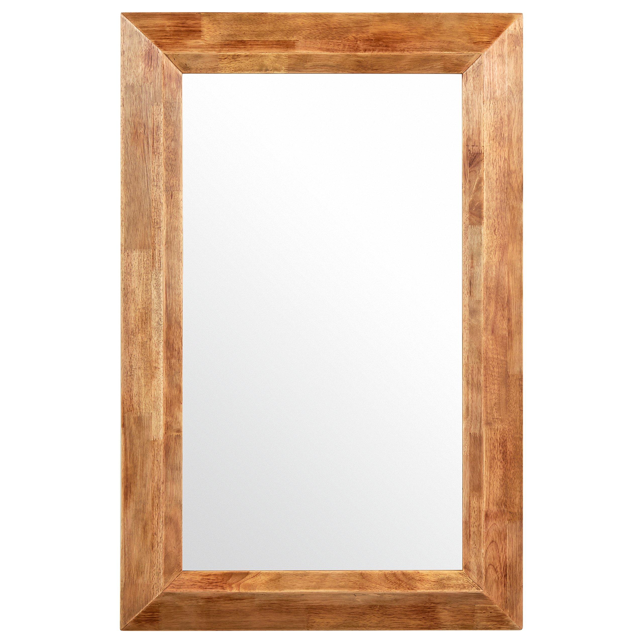 Stone & Beam Rustic Wood Frame Mirror, 39.75''H, Natural
