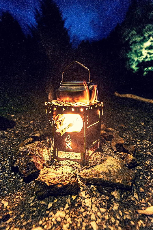 Hobo Kocher FlexFire 4 Outdoor Kocher und Outdoor Grill Mobiler Camping Ofen