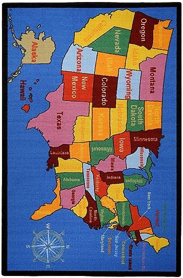 Amazoncom Kids Educational United States Map Cities X - United states map with cities