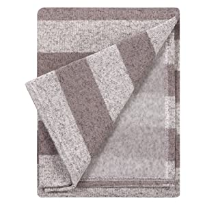 Trend Lab Soft Receiving Deluxe Sweatshirt Knit Baby Blanket, Rugby Stripe