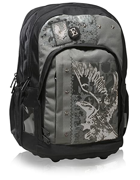8771d23879 Totem Ergonomic Designed Orthopaedic School Bag Street (Black)   Amazon.co.uk  Luggage