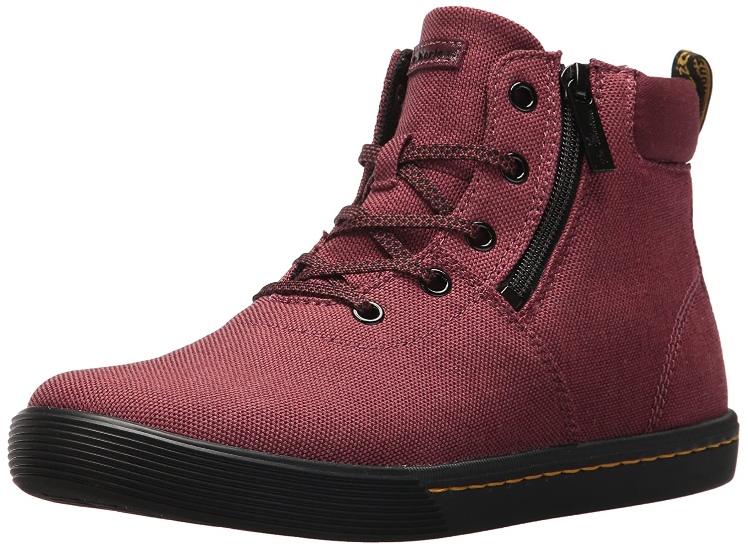 Dr. Martens Women's Maegley Fashion Boot B072N2N5RP 5 Medium UK (7 US)|Cherry Red Woven Textile+fine Canvas
