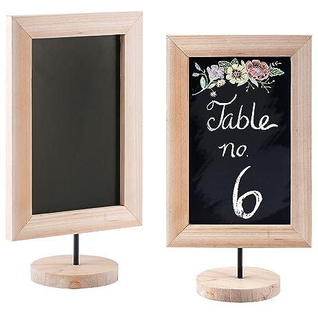 12 inch natural wood framed chalkboard sign tabletop memo message cafe menu board - Wood Framed Chalkboard