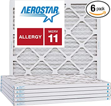 Nordic Pure 21x21x1 MERV 11 Pleated AC Furnace Air Filters 2 Pack