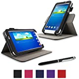 rooCASE Galaxy Tab 3 7.0 Case - Dual View PU Leather Case Cover Stand for Samsung Galaxy Tab 3 7.0 inch, Black