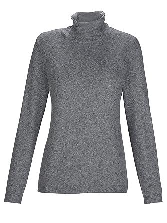 26f0e1f3301754 MONA Damen Pullover Grau: Amazon.de: Bekleidung