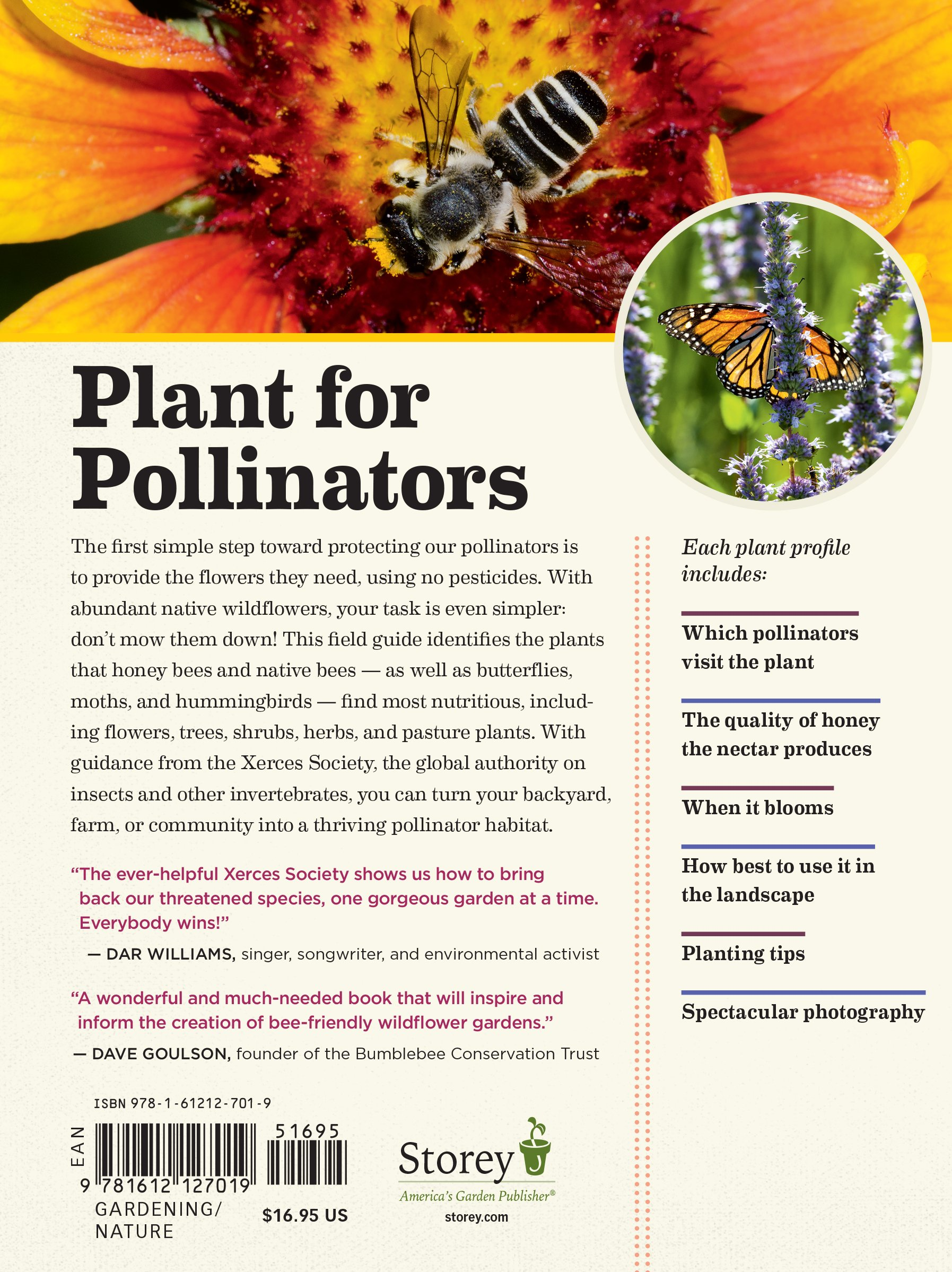 100 plants to feed the bees provide a healthy habitat to help