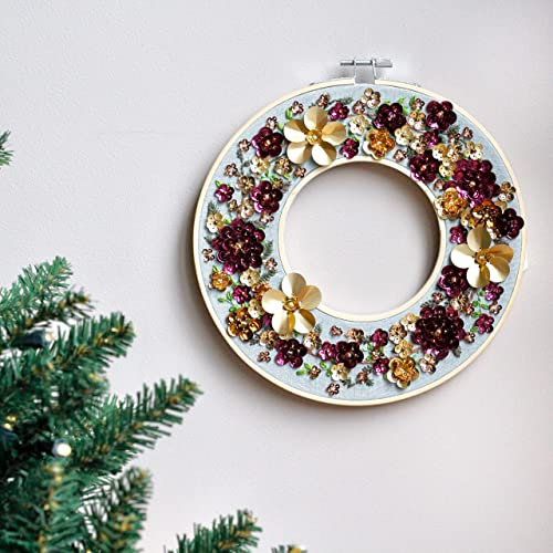 Gold And Purple Flower Modern Contemporary Christmas Wreath Amazon
