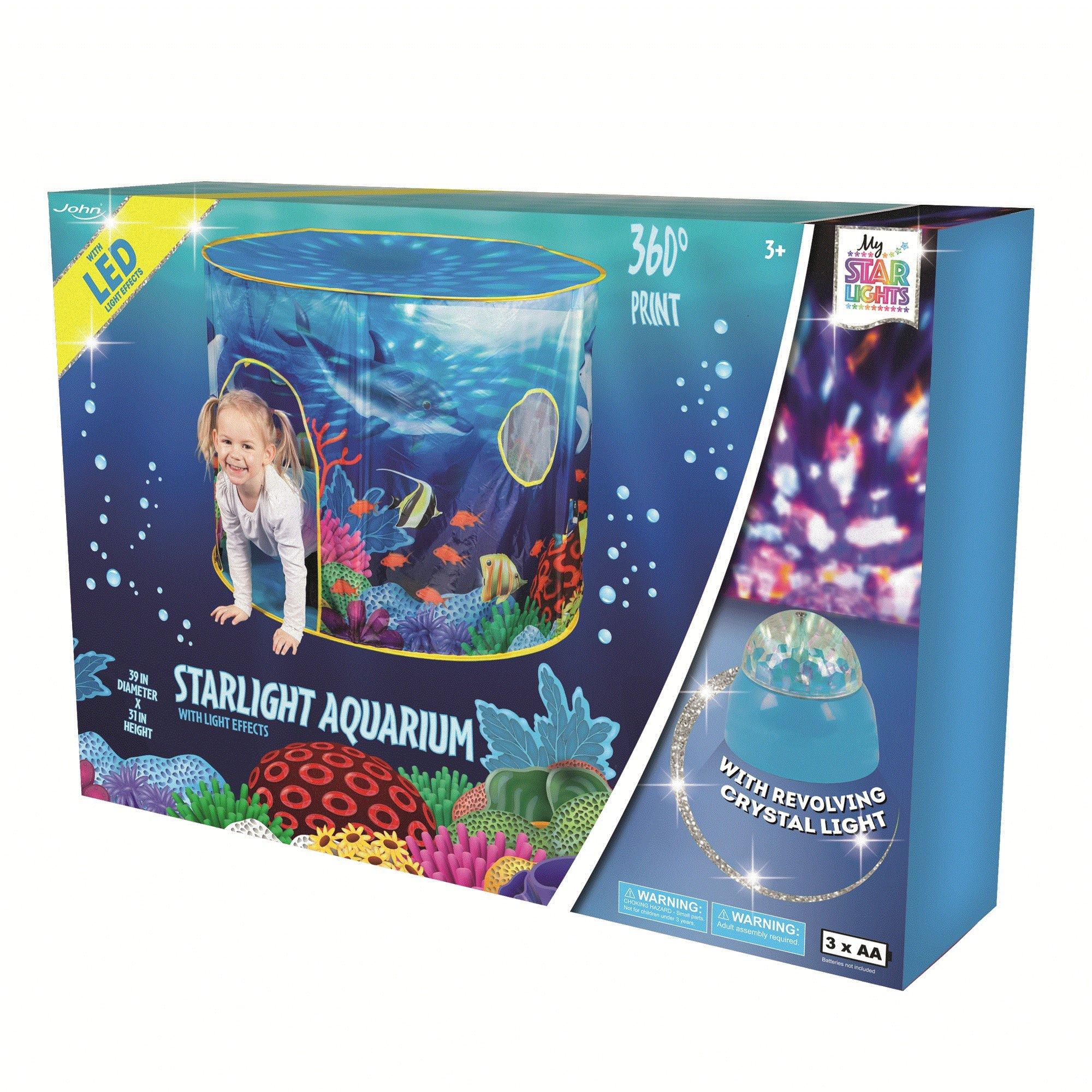 John Popup Indoor/Outdoor Play Tent for Kids (Aquarium Theme)