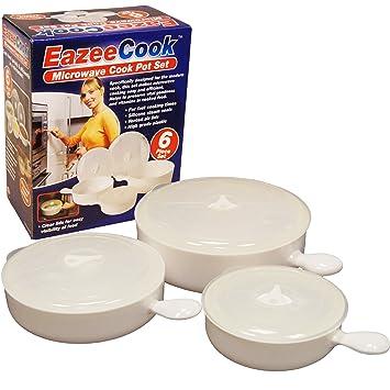 Amazon.com: 6 piezas Microondas cocina Cacerola recipiente ...