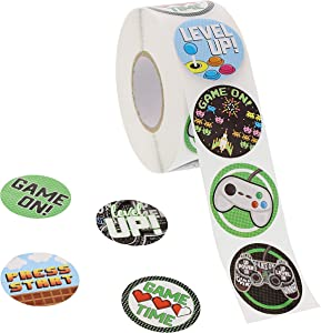 Video Game Stickers, Sticker Roll (1.5 in, 1000 Pieces)
